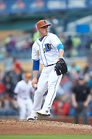 Durham Bulls relief pitcher Jaime Schultz (12) in action against the Buffalo Bison at Durham Bulls Athletic Park on April 25, 2018 in Allentown, Pennsylvania.  The Bison defeated the Bulls 5-2.  (Brian Westerholt/Four Seam Images)