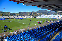 A general view from the grandstand after the Rugby Championship Argentina Pumas captain's run at Trafalgar Park in Nelson, New Zealand on Friday, 7 September 2018. Photo: Dave Lintott / lintottphoto.co.nz