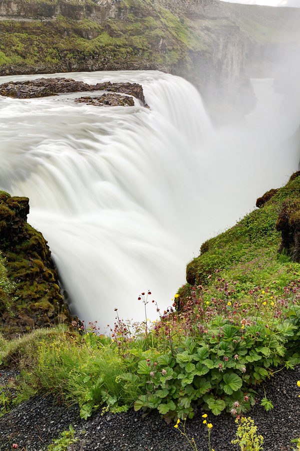Brink of the Gullfoss waterfall, southwest Iceland