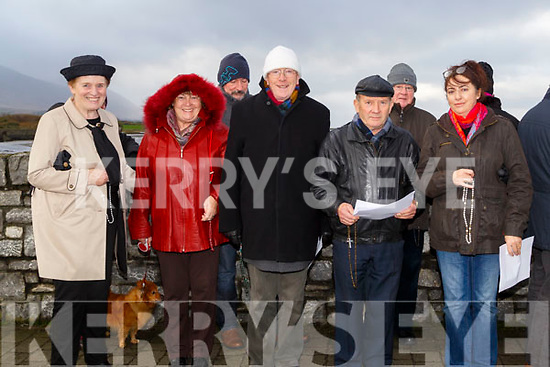 At the rosary by the Bridge in Blennerville on Sunday Maureen Sayers,Máire Mhic Giolla Rua,Brian caball,Francis Driscoll,Liam Maher,Maria Walsh and Michael Darcy