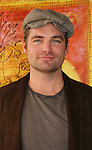 """Guiding Light's Daniel Cosgrove """"Billy Lewis"""" donated his time for Young Women's Breast Cancer Awareness Foundation by going to Pittsburgh, PA on October 7, 2008 and went Pink with Panera. They visited three of 27 Panera Bread locations during the day where 100% of sales from their Pink Ribbon bagels went to the foundation and a portion of those sales all during the month of October. For more information go to www.breastcancerbenefit.org. The day started out with Star 100.7 and the hosts Kate and JR interviewed Frank Dicopoulos. The two actors then went to the CBS studio in Pittsburgh in the morning. The day was a great hit. (Photo by Sue Coflin/Max Photos)"""