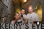 Ghost hunting in Kerry county museum on Tuesday night were Fiona Quirke, John P Quirke and Anthony Kerrigan.