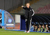 Thursday 27 February 2014<br /> Pictured: Swansea manager Garry Monk.<br /> Re: UEFA Europa League, SSC Napoli v Swansea City FC at Stadio San Paolo, Naples, Italy.