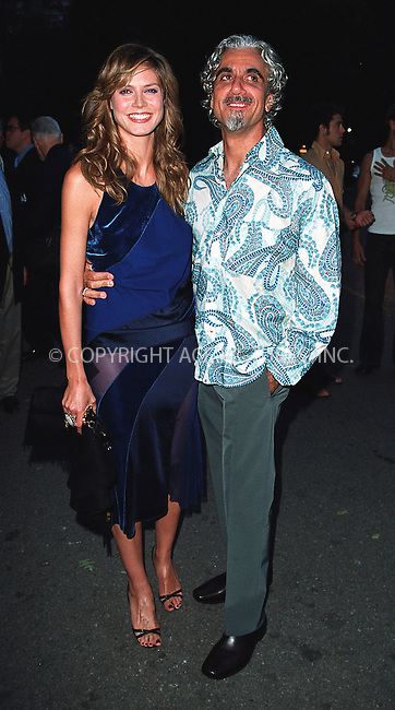 Swimsuit model Heidi Klum with her husband attend amfAR's 11th Annual Boathouse Rock event at Tavern on the Green. New York, June 17, 2002. Please byline: Alecsey Boldeskul/NY Photo Press.   ..*PAY-PER-USE*      ....NY Photo Press:  ..phone (646) 267-6913;   ..e-mail: info@nyphotopress.com