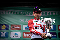 podium:<br /> <br /> race winner Caleb Ewan (AUS/Lotto Soudal)<br /> <br /> <br /> 99th Brussels Cycling Classic 2019<br /> One Day Race: Brussels > Brussels 189.4km<br /> <br /> ©kramon