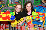 FUN TIME: Kathryn O'Donnell and Denis Quinlan from the Kerry County Childcare Committee with some of the toys available through a Childminders Resource Pack initiative.