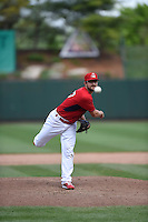 ***Temporary Unedited Reference File***Springfield Cardinals relief pitcher Ronnie Shaban (47) during a game against the Northwest Arkansas Naturals on April 27, 2016 at Hammons Field in Springfield, Missouri.  Springfield defeated Northwest Arkansas 8-1.  (Mike Janes/Four Seam Images)