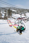 California: Skiers at  Northstar at Lake Tahoe.    Photo copyright Lee Foster.  Photo # cataho100433