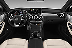 Stock photo of straight dashboard view of 2017 Mercedes Benz C-Class AMG-C43 2 Door Coupe Dashboard