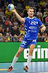 Gummersbachs K&ouml;pp / Koepp, Eirik am Ball beim Spiel in der Handball Bundesliga, Rhein Neckar Loewen - VfL Gummersbach.<br /> <br /> Foto &copy; PIX-Sportfotos *** Foto ist honorarpflichtig! *** Auf Anfrage in hoeherer Qualitaet/Aufloesung. Belegexemplar erbeten. Veroeffentlichung ausschliesslich fuer journalistisch-publizistische Zwecke. For editorial use only.