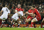 Anthony Watson of England tackled by Alex Cuthbert of Wales - RBS 6Nations 2015 - Wales  vs England - Millennium Stadium - Cardiff - Wales - 6th February 2015 - Picture Simon Bellis/Sportimage