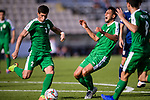 Babajanov Zafar of Turkmenistan (L) in action during the AFC Asian Cup UAE 2019 Group F match between Japan (JPN) and Turkmenistan (TKM) at Al Nahyan Stadium on 09 January 2019 in Abu Dhabi, United Arab Emirates. Photo by Marcio Rodrigo Machado / Power Sport Images