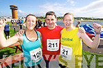 from left Siobhan Lynch, Brendan and Sandra Byrne pictured at the Rose of Tralee International 10k Race in Tralee on Sunday.