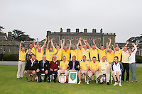 The Spanish Point team, winners of the AIG Pierce Purcell Shield in the AIG Cups &amp; Shields at Carton House on Friday 19th September 2014.<br /> Picture:  Thos Caffrey / www.golffile.ie