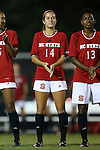 04 September 2015: NC State's Taylor Porter. The North Carolina State University Wolfpack hosted the Oregon University Ducks at Dail Soccer Field in Raleigh, NC in a 2015 NCAA Division I Women's Soccer game. NC State won the game 2-0.