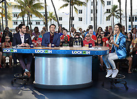 "MIAMI BEACH, FL - JANUARY 31: Todd Fuhrman, Clay Travis, and Rachel Bonnetta on the set of ""Lock It In"" on the Fox Sports South Beach studio during Super Bowl LIV week on January 31, 2020 in Miami Beach, Florida. (Photo by Frank Micelotta/Fox Sports/PictureGroup)"