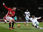 Wayne Rooney of Manchester United tackled by Angelo Ogbonna Obinze of West Ham United during the Premier League match at the Old Trafford Stadium, Manchester. Picture date: November 27th, 2016. Pic Simon Bellis/Sportimage