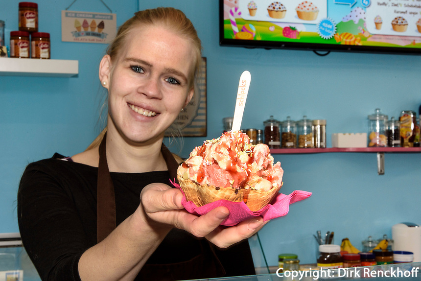 Eisdiele Schlecks, Fischers Allee 78,Hamburg - Ottensen, Deutschland, Europa<br /> icecream parlor Schlecks, Fischers Allee 78,Hamburg - Ottensen, Germany, Europe