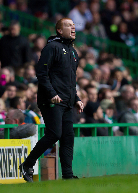 Neil Lennon on the trackside