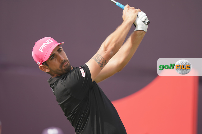 Matthieu Pavon (FRA) in action during the second round of the Omega Dubai Desert Classic, Emirates Golf Club, Dubai, UAE. 25/01/2019<br /> Picture: Golffile | Phil Inglis<br /> <br /> <br /> All photo usage must carry mandatory copyright credit (© Golffile | Phil Inglis)
