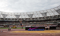 General view of Greg Rutherford (GBR) during the Long Jump during the Sainsbury's Anniversary Games, Athletics event at the Olympic Park, London, England on 25 July 2015. Photo by Andy Rowland.