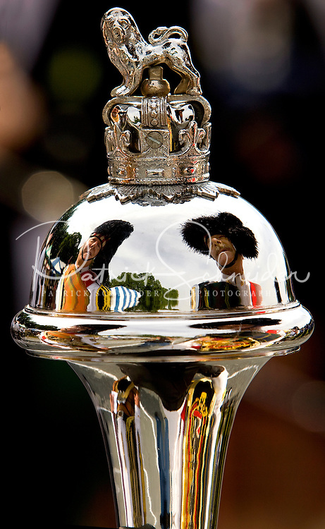 A pipe and drum major during the 52nd Annual Grandfather Mountain Highland Games in Linville, NC.