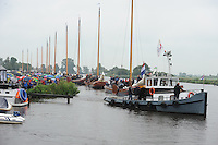 ZEILEN: DE VEENHOOP, Wide Ie, Grytmansrak, 21-07-2014, 2e wedstrijd SKS skûtsjesilen, ©foto Martin de Jong