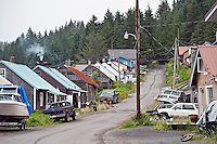 Residential area of the Tlingit village of Hoonah, AK, Alaska, USA