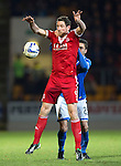 St Johnstone v Aberdeen.....07.12.13    SPFL<br /> Scott Vernon is held by Sanil Jahic<br /> Picture by Graeme Hart.<br /> Copyright Perthshire Picture Agency<br /> Tel: 01738 623350  Mobile: 07990 594431