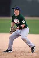 January 17, 2010:  Bobby St. Pierre (Windsor, ON) of the Baseball Factory Central Team during the 2010 Under Armour Pre-Season All-America Tournament at Kino Sports Complex in Tucson, AZ.  Photo By Mike Janes/Four Seam Images