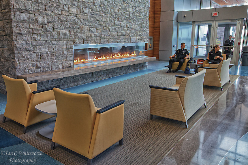 Oakville Trafalgar Memorial Hospital entrance seating area.