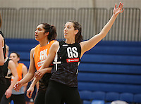 14.10.2016 Silver Ferns Bailey Mes in action at the Silver Ferns training at the Auckland Netball Centre in Auckland. Mandatory Photo Credit ©Michael Bradley.