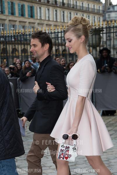 5dc58185f1d4 Matthew Bellamy   Elle Evans arrive at the Christian Dior show as part of  the Paris