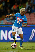 Lorenzo Insigne  during the  italian serie a soccer match,between SSC Napoli and   Bologna FC    at  the San  Paolo   stadium in Naples  Italy , September 18, 2016
