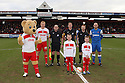 Captains, officials and mascots. Stevenage v Leyton Orient - npower League 1 -  Lamex Stadium, Stevenage - 2nd February, 2013. © Kevin Coleman 2013.