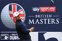 Lucas Bjerregaard (DEN) on the 12th tee during Round 1of the Sky Sports British Masters at Walton Heath Golf Club in Tadworth, Surrey, England on Thursday 11th Oct 2018.<br /> Picture:  Thos Caffrey | Golffile<br /> <br /> All photo usage must carry mandatory copyright credit (© Golffile | Thos Caffrey)