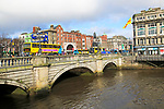 O'Connell Bridge, River Liffey, city of Dublin, Ireland, Irish Republic