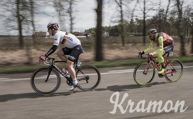 Andr&eacute; Greipel (DEU/Lotto-Soudal) speeding along<br /> <br /> 105th Scheldeprijs 2017 (1.HC)<br /> 1 Day Race: Mol &rsaquo; Schoten (BEL/202km)
