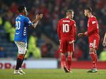 05.12.2018 Rangers v Aberdeen: Alfredo Morelos applauds the ref after being sent off