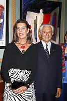 --- NO TABLOIDS, NO SITE WEB --- Monaco, 14 Septembre 2016. KARL STENGEL ‡ La Galerie Adriano Ribolzi.<br /> LaurÈat du Grand prix d'art Contemporain Gemlucart 2015, concours international placÈ sous le prÈsidence d'honneur de S.A.R. La Princesse de Hanovre et dÈcernÈ par le Gemluc, Karl Stengel s'est vu offrir une exposition personnelle dans la Galerie de l'Antiquaire Adriano Ribolzi ‡ Monaco.<br /> En prÈsence de S.A.R. La Princesse Caroline de Hanovre, Adriano Ribolzi # LA PRINCESSE CAROLINE DE MONACO A L'EXPOSITION DE KARL STENGEL A MONACO