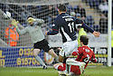 31/01/2009  Copyright Pic: James Stewart.File Name : sct_jspa07_falkirk_v_aberdeen.MICHAEL HIGDON SCORES FALKIRK'S GOAL.James Stewart Photo Agency 19 Carronlea Drive, Falkirk. FK2 8DN      Vat Reg No. 607 6932 25.Studio      : +44 (0)1324 611191 .Mobile      : +44 (0)7721 416997.E-mail  :  jim@jspa.co.uk.If you require further information then contact Jim Stewart on any of the numbers above.........