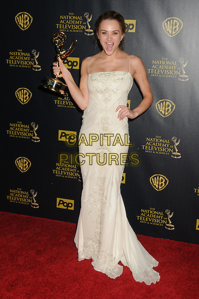 26 April 2015 - Burbank, California - Hunter King. The 42nd Annual Daytime Emmy Awards - Press Room held at Warner Bros. Studios. <br /> CAP/ADM/BP<br /> &copy;BP/ADM/Capital Pictures