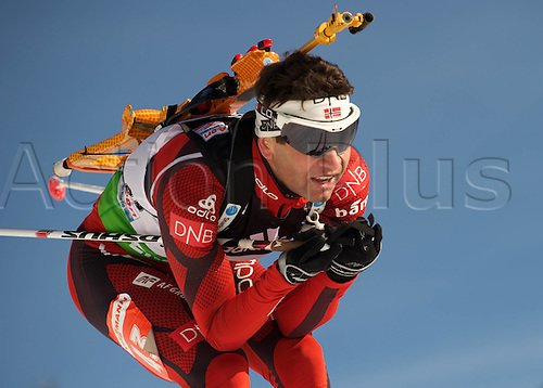 09.12.2011, Hochfilzen, Austria. The IBU Biathlon men's 10km Sprint Bjoerndalen Ole Einar NOR Biathlon World Cup