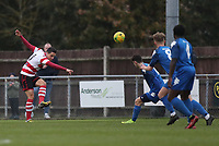 Fabio Saraiva of Kingstonian clears the ball from danger during Kingstonian vs Lewes, BetVictor League Premier Division Football at King George's Field on 16th November 2019