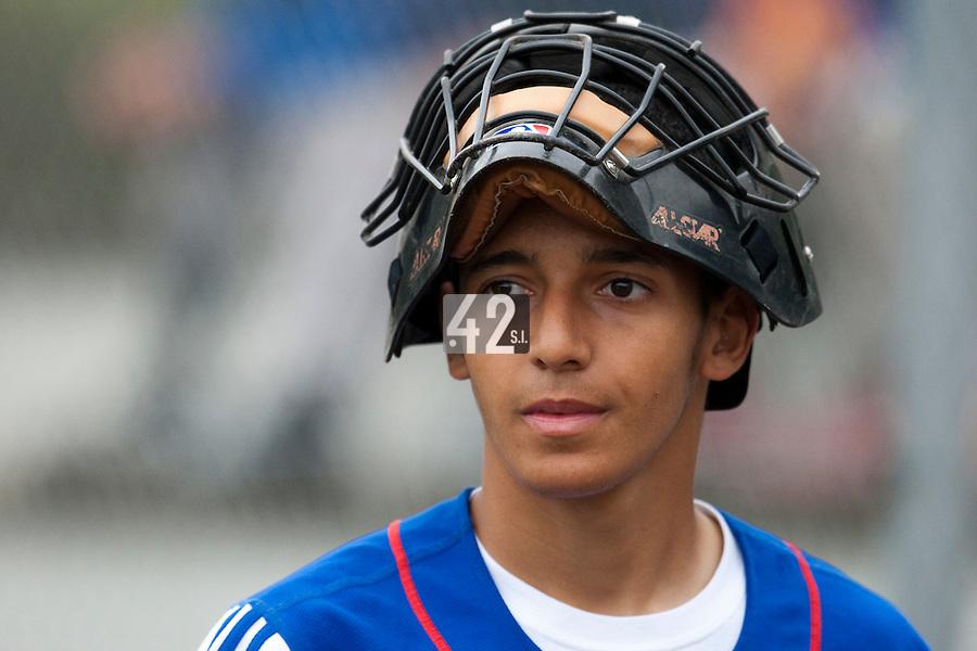 Baseball - 2009 European Championship Juniors (under 18 years old) - Bonn (Germany) - 08/08/2009 - Day 6 - Amin Touahri (France)