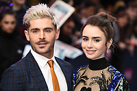 "LONDON, UK. April 24, 2019: Zac Efron & Lily Collins arriving for the ""Extremely Wicked, Shockingly Evil And Vile"" premiere at the Curzon Mayfair, London.<br /> Picture: Steve Vas/Featureflash"