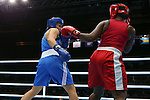 Glasgow 2014 Commonwealth Games<br /> Lauren Price, Wales (Blue) v Theresa London, Guyana (Red).<br /> Women's Middle (69-75kg)<br /> SECC<br /> 29.07.14<br /> &copy;Steve Pope-SPORTINGWALES