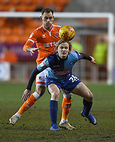 Blackpool's Harry Pritchard battles with Wycombe Wanderers' Alex Samuel<br /> <br /> Photographer Dave Howarth/CameraSport<br /> <br /> The EFL Sky Bet League One - Blackpool v Wycombe Wanderers - Tuesday 29th January 2019 - Bloomfield Road - Blackpool<br /> <br /> World Copyright © 2019 CameraSport. All rights reserved. 43 Linden Ave. Countesthorpe. Leicester. England. LE8 5PG - Tel: +44 (0) 116 277 4147 - admin@camerasport.com - www.camerasport.com