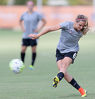 Houston, TX - Friday Oct. 07, 2016: Shelina Zardorsky during training prior to the National Women's Soccer League (NWSL) Championship match between the Washington Spirit and the Western New York Flash at BBVA Compass Stadium.