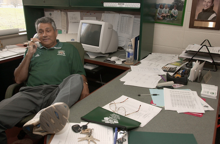 15189Coach Banton & Coach Carbone candid shots together & in Office